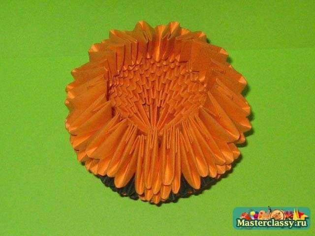 Оригами. Тыква на Хэллоуин. Мастер класс с пошаговыми фото