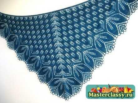 Вязание крючком шали. Схемы