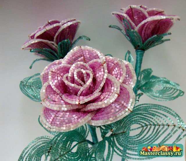 картин и канзаши роза,