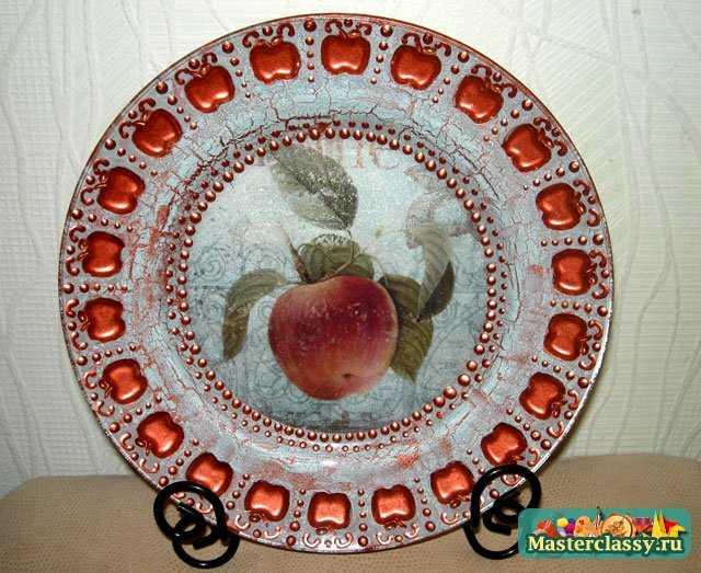 обратный декупаж тарелки с фотографией мастер класс
