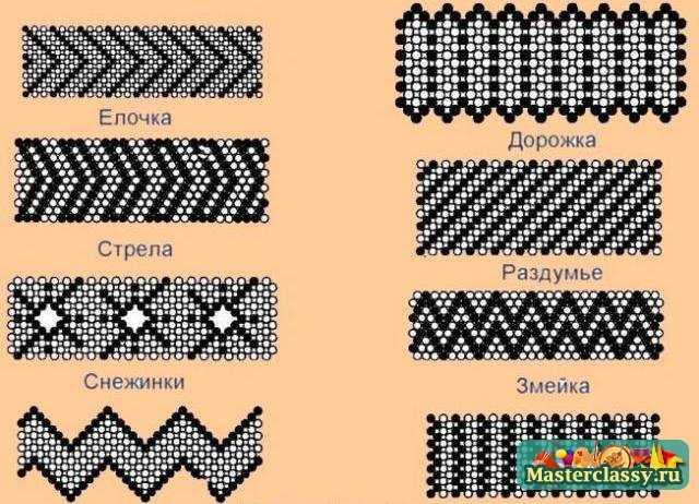 Фенечки из бисера схемы