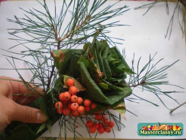Осенний букет пошаговая инструкция