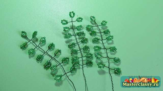 глициния из бисера мастер класс с пошаговым фото - Искусство бисероплетения.