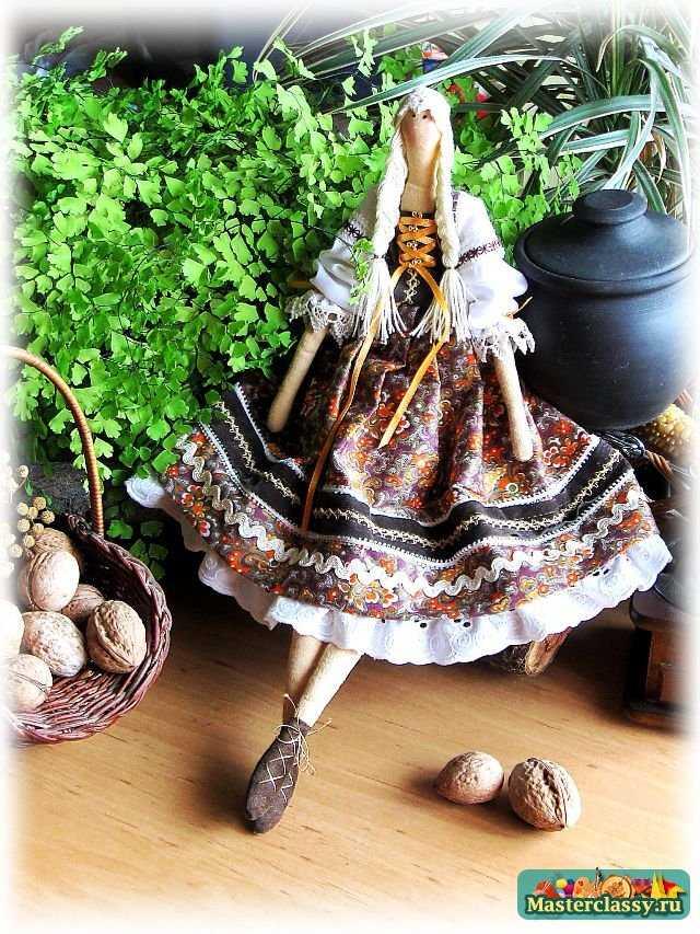 кукла тильда дачница