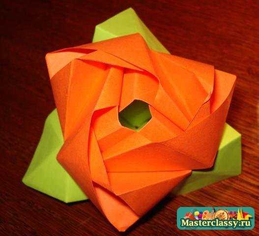 """Оригами  """"Magic Rose - cube """" просто перевоплощается из розочки в куб и, напротив, для этого довольно легкими..."""