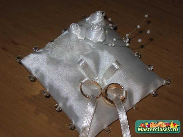 Свадебная подушечка для колец своими руками видео