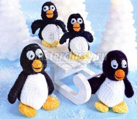 Мастер класс крючком. Пингвин