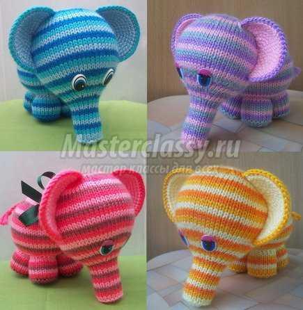 Вязание крючком. Слон