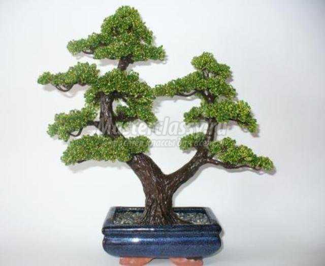 Ведь помимо привычных для нас украшений из бисера можно еще оформить и дерево из.