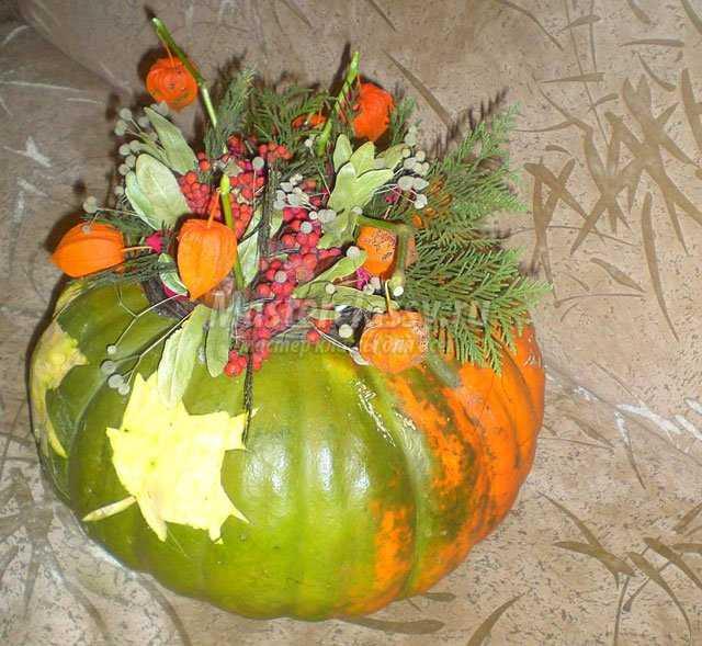 Осенние поделки из тыквы