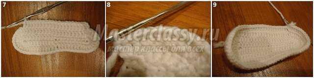 Вязание пинеток крючком. Кеды. Мастер класс с фото