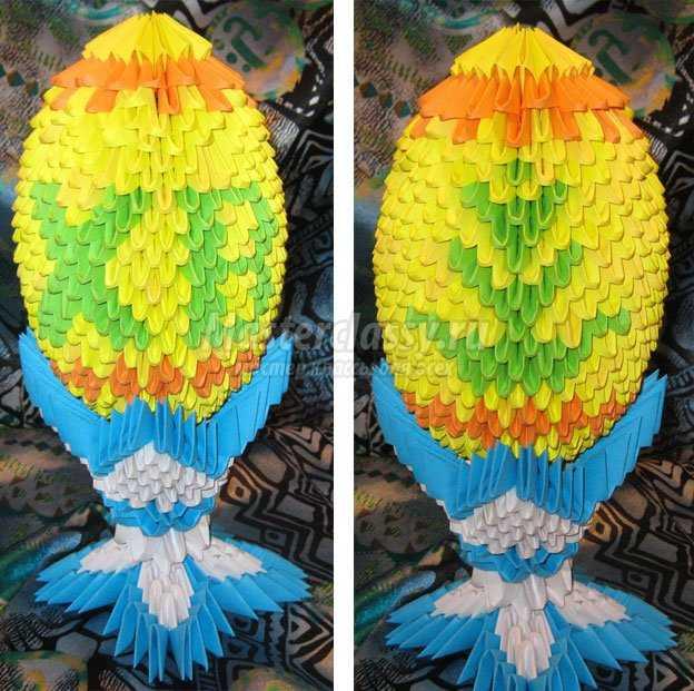 Подарки на пасху из модульные оригами