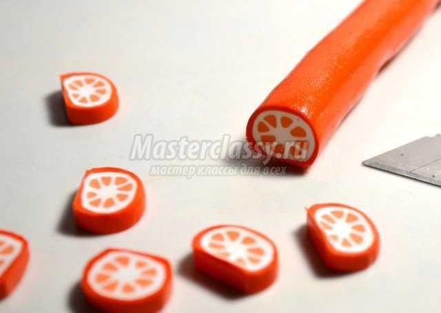 Сережки - апельсинки из