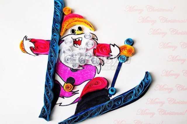 Новогодние открытки своими руками. Счастливый Дед Мороз. Мастер класс с фото