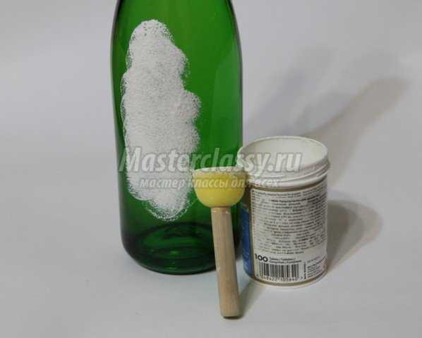 Декупаж бутылки в подарок на День Рождения ребёнка. Мастер класс с пошаговыми фото