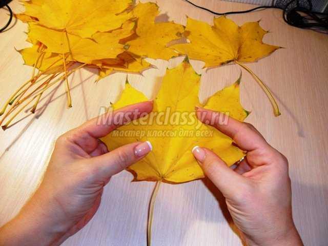 Наряд из осенних листьев своими руками