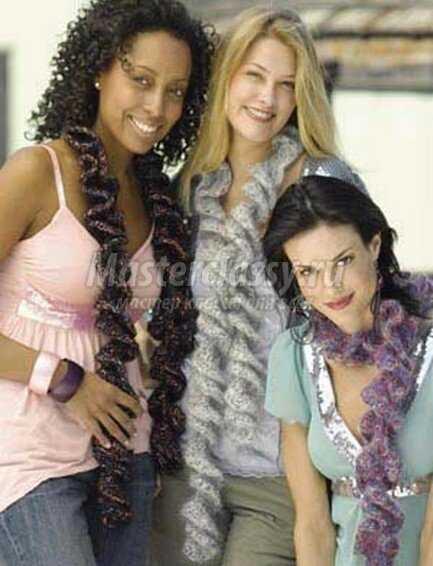 Вязание шарфов. Шарф-спираль