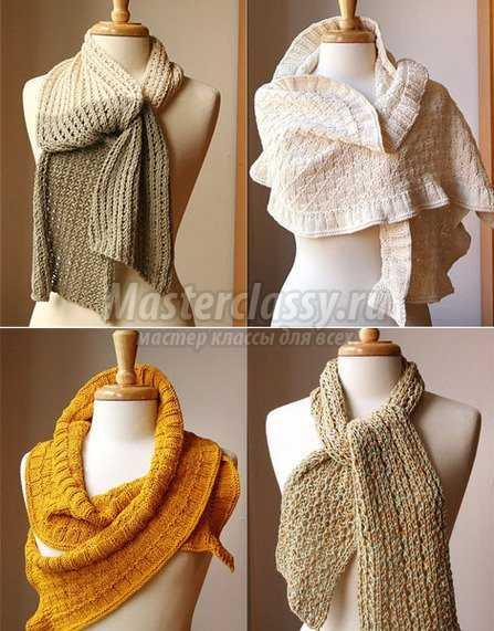 Как вязать круговой шарф