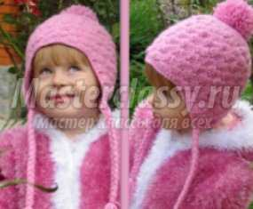 домашнее рукоделие вязание осенних детских шапок схемы