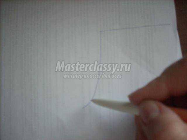 Рисуем детали на бумаге сапожек овал