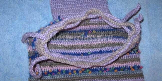 Вязание рюкзака крючком для ребенка