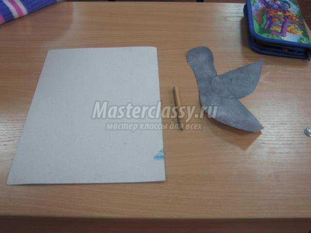Поделка из салфеток и бумаги «Голубь