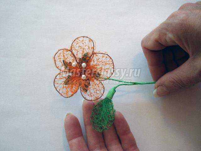 Корзина с цветами своими руками