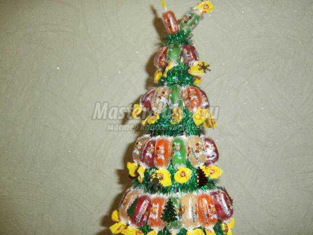 новогодняя красавица-елка из конфет