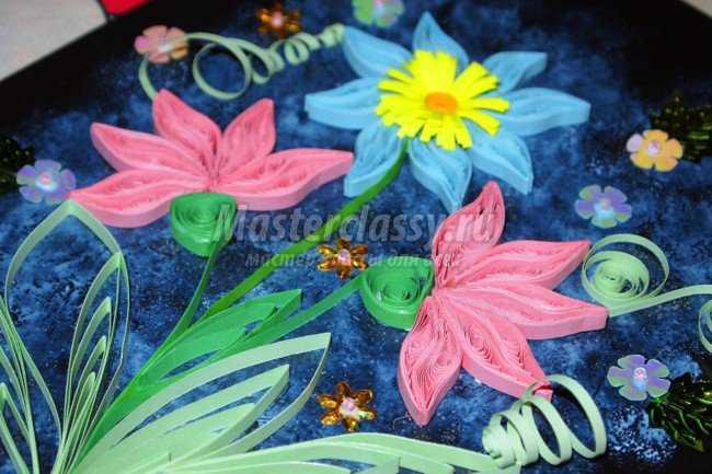 Квиллинг картина. Цветы