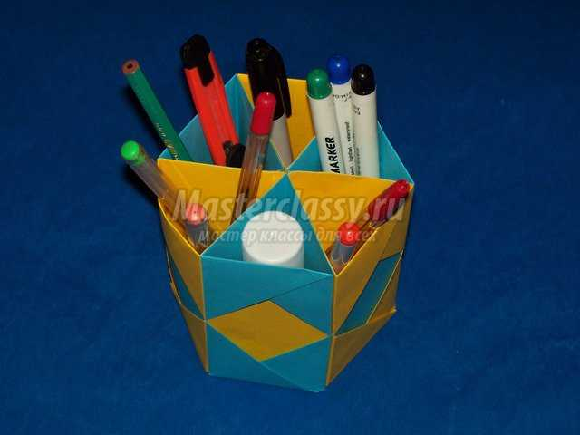 Оригами Карандашница