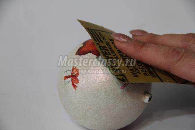 декупаж елочных шаров