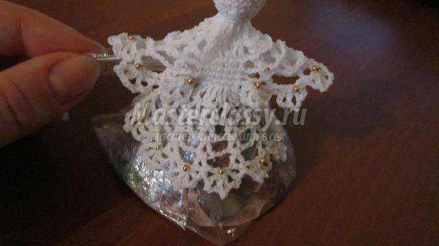 Вязание крючком Рождественский ангел Мастер класс с пошаговым фото.