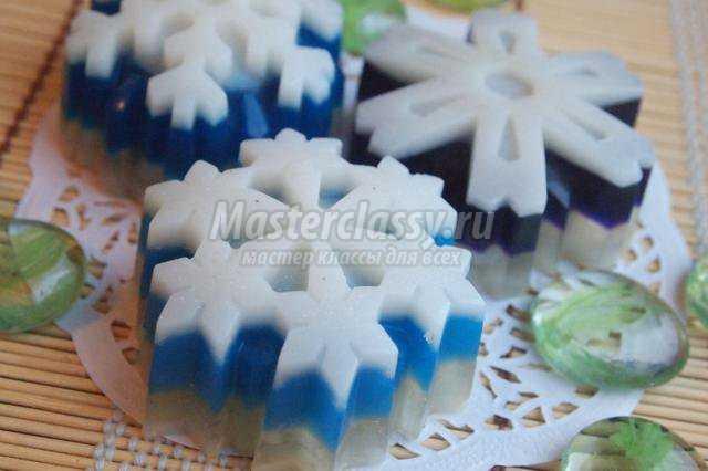 Мыло Снежинки