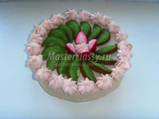 фетровый торт – шкатулка