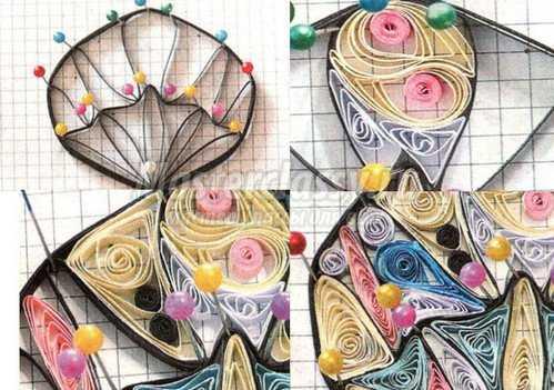 Летняя бабочка из бумаги в