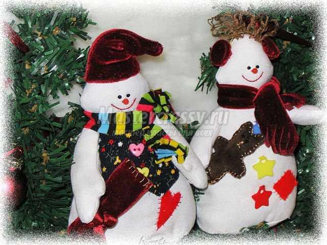 Тильда панно снеговики