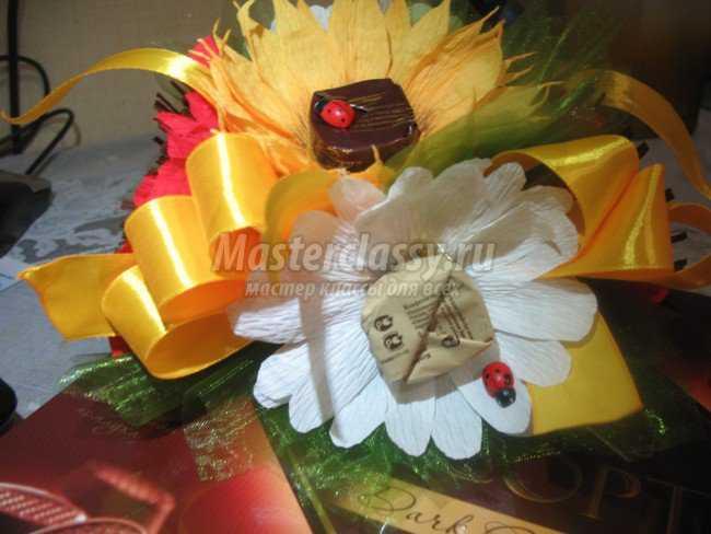 Подарки из конфет своими руками.  Букет - Полевые цветы.