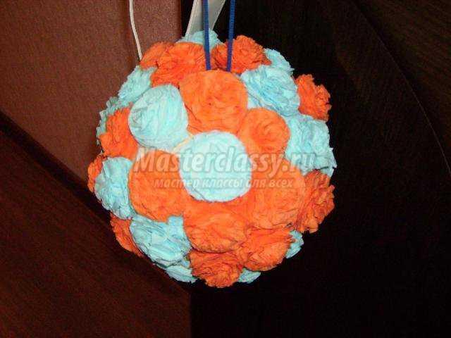 Как сделать новогодние шары из салфеток