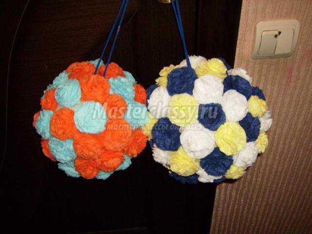 Поделка шарик салфетки