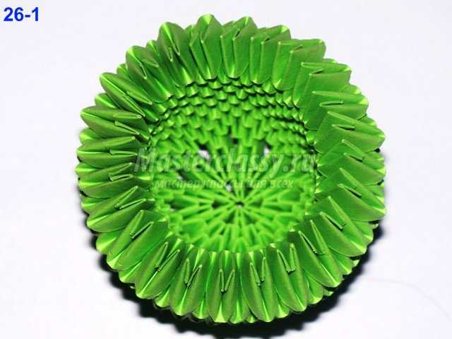Сборка кактуса оригами