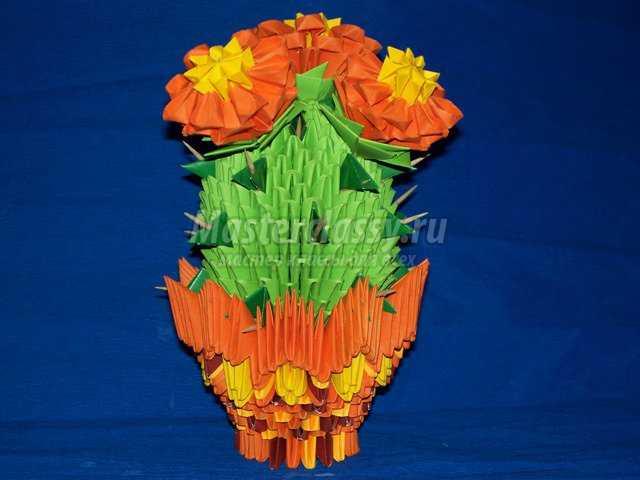 Модульное оригами Цветущий