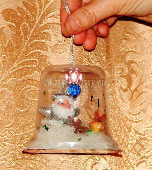 Новогодний колокольчик своими руками мастер класс