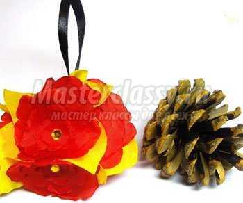 Елочные игрушки из флиса своими руками фото