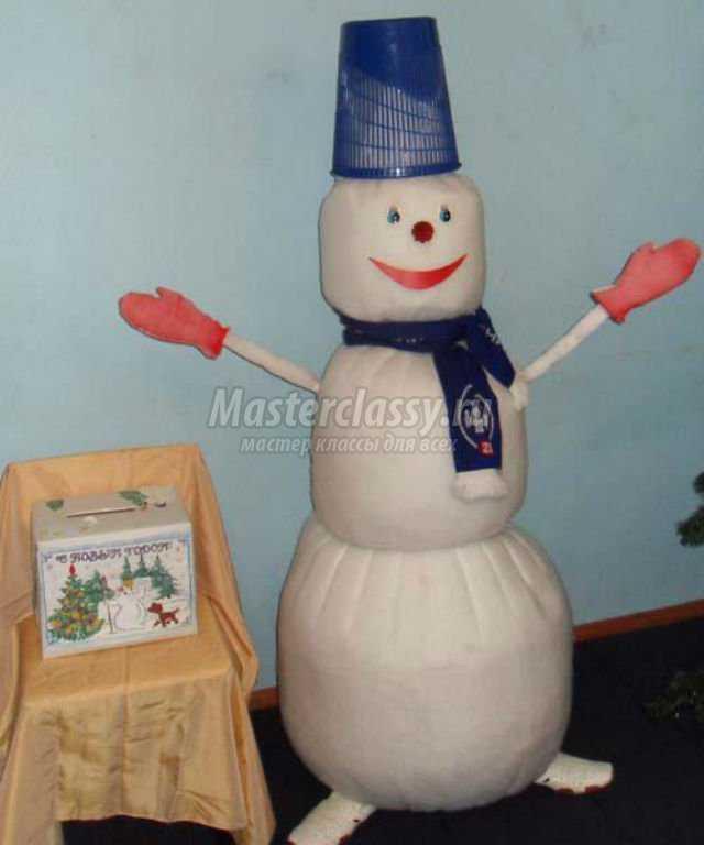 Снеговик своими руками высокий