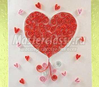 Открытка ко дню Святого Валентина. Мастер класс с фото