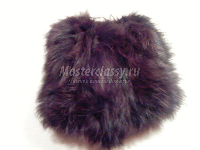 меховая шапка из полос