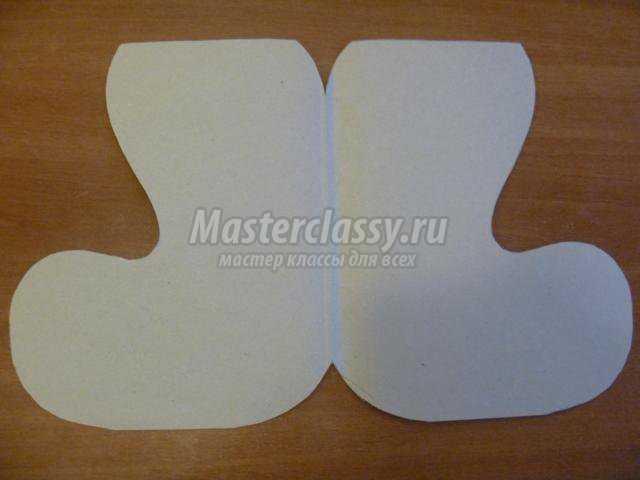 Сапожок своими руками из бумаги