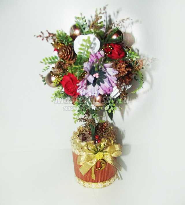 Мастер класс топиарий с цветами из фоамирана