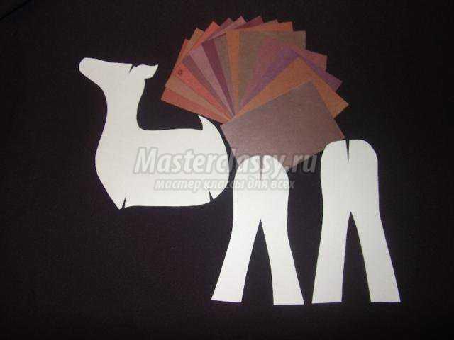 объемные олени из цветной бумаги