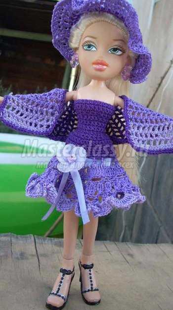 Вязаные платья для кукол своими руками